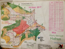 Hafren Blue course Map,
