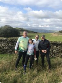 Latvian vistors to Gilwern Hill event 2019,