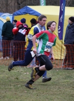 Callum Carter-Davies finishing relay race on Day 4,
