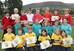 Some of the children who took part,